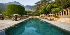 Main pool area at Amanjiwo Resort, Borobudur, Java.