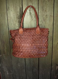 Soft Camel Color Italian Woven Leather Handbag 2931672e29192