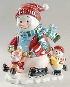 Waterford Holiday Heirloom Cookie Jar. Snowy Village Holidays On Ice