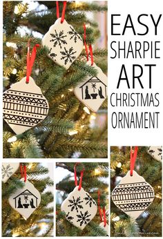 Easy Sharpie Art Christmas Ornament by Finding Home