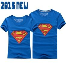 Superman T Shirt Lovers clothes Women's Men's casual O neck short sleeve t-shirts for couples superman short-sleeve T-shirt(China (Mainland))
