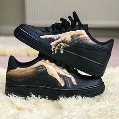 Custom af1, Diy sneakers, Shoes, Sock shoes, Shoe art, Painted shoes - Michelangelo inspired custom AF1 Art changes every     AF1 Art custom hoes Inspired Michelangelo -  #Customaf1