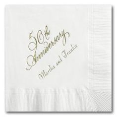 Personalized napkins for your wedding! Many colors and type styles to choose from at PaperFancy.com #wedding