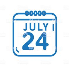 Summer July 24 calendar date outline line art flat icons - Royalty-free Blue stock vector Calendar Date, Summer Icon, Flat Icons, Book And Magazine, July 24, Advertising Design, Free Vector Art, Label Design, Photo Illustration