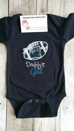 84ac7985 SHIP TODAY Carolina Panthers Inspired Girl 0-3 month by saluna Cute  Onesies, Lil
