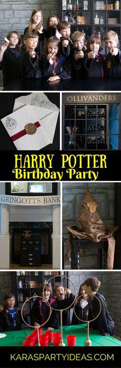 Harry Potter Birthday Party via Kara's Party Ideas