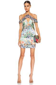 Image 1 of Zimmermann Riot V Shift Linen-Blend Dress in Splice