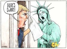 Here's Donny! Trump and Liberty cartoon for Tribune UK