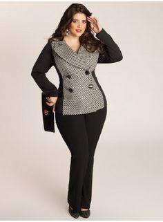 Miuccia Jacket - IGIGI Big curvy plus size women are beautiful! fashion curves real women accept your body body consciousness