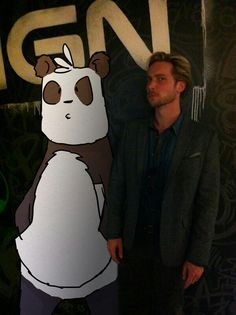 Mr panda, dont be alarmed, but Troy Baker is moving in on you...
