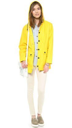 yellow raincoat!