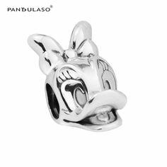 Daisy Duck Portrait Beads Fit Charms Silver 925 Original Bracelets Fashion DIY Sterling-Silver-Jewelry Pandulaso #Affiliate