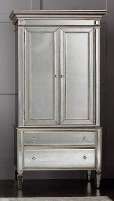 Hidden Jewelry Storage, Cord Storage, Jewellery Storage, Furniture Fix, Furniture Makeover, Painted Furniture, Furniture Ideas, Armoire Redo, Painted Wardrobe