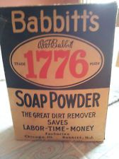 VINTAGE BABBITTS LAUNDRY SOAP DETERGENT IN ORIGINAL UNOPENED BOX