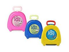 It's a potty that you can bring with you. After my experience with potty training as a nanny - a portable potty seat is very handy for the malls and such. Crawling Baby, Baby Kicking, Toilet Training, Potty Training, Baby Inventions, Portable Potty Seat, Baby Toilet, Baby Potty, Gadgets