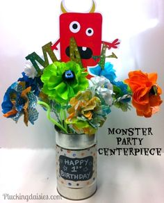 Monster Party Flowers | @PluckingDaisy