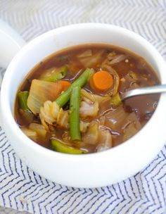 Weight Watcher's Zero Point Cabbage Soup - You can eat as much of this 0-point Weight Watchers cabbage soup as you like because it's only 22 calories per serving! More like the whole pot!