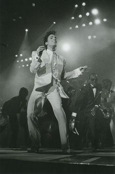 Prince at Wembley Stadium photographed by Michael Putland, 1986