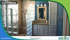 Innovative way to use glass blocks pavé de verre salle de bain Shower Remodel, Bath Remodel, Glass Block Basement Windows, Bathroom Linen Tower, Shower Bathroom, Bathroom Ideas, Shower Doors, Master Bathroom, Glass Block Shower