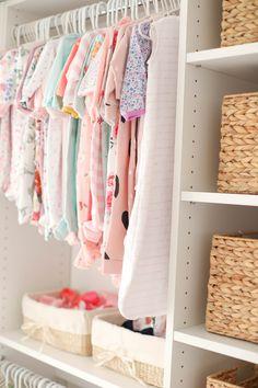 Baby Emma's Nursery Reveal - Eat Yourself Skinny Nursery Room, Girl Nursery, Girl Room, Nursery Decor, Pottery Barn Nursery, Nursery Inspiration, Nursery Ideas, Shed Interior, Closets