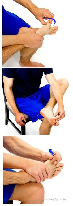 Toe stretches to improve movement and reduce stiffness in the toes.