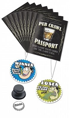 Pub Crawl Passport - use for a party
