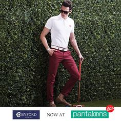 #TrendUpdate A colour so unique and yet so versatile, a man must always own a pair of fitted denims in this colour.
