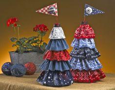 Make a Patriotic Ruffled Topiary