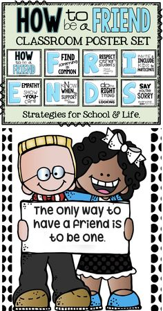 Are you ready to help your students to learn about friendship? Classroom Behavior, Classroom Environment, Classroom Posters, Classroom Procedures, Kindergarten Classroom, Future Classroom, Classroom Themes, Classroom Organization, Classroom Management
