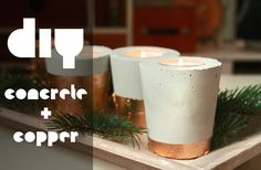 DIY concrete & copper candle holder – very simple and big fun