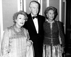 Greer Garson, Jimmy Stewart and wife Gloria