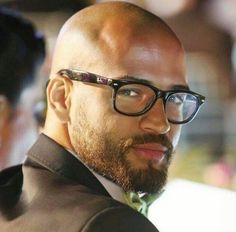 Bald Men With Beards, Bald With Beard, Great Beards, Awesome Beards, Bald Man With Glasses, Shaved Head With Beard, Mens Glasses, Mens Hairstyles With Beard, Haircuts For Men