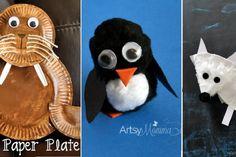 20 bricolages d'enfants! Les animaux de l'Arctique et l'Antarctique!