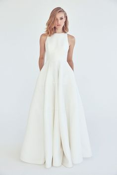 Wonderful Perfect Wedding Dress For The Bride Ideas. Ineffable Perfect Wedding Dress For The Bride Ideas. Bridal Dresses, Wedding Dress Styles, Prom Dresses, Formal Dresses, Wedding Dress Simple, Wedding Dress Pockets, High Neck Wedding Dresses, Boat Neck Wedding Dress, Classic Wedding Dress