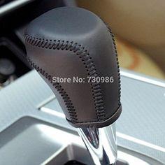 Black Genuine Leather Gear Shift Knob Cover for 2013 2014 2015 2016 Toyota RAV4 / 2012 2013 2014 2015 2016 Toyota Camry / 2014 2015 2016 Toyota Corolla / 2012 2013 2014 2015 Toyota Prius C Automatic