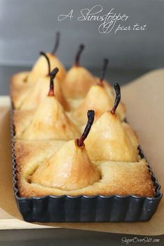 A Showstopper Pear Tart - SugarOverSalt.com