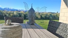 Chicken Wire Sculpture, Sidewalk, Design, Side Walkway, Walkway, Walkways, Pavement