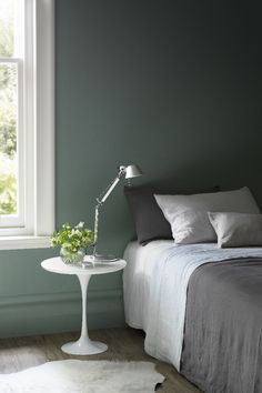Green and grey bedroom grey and green bedroom grey green bedroom color schemes fabulous ways to . green and grey bedroom green bedroom design idea Grey Green Bedrooms, Green Bedroom Design, Bedroom Green, Green Rooms, Master Bedroom, Bedroom Colour Palette, Bedroom Color Schemes, Bedroom Colors, Bedroom Decor