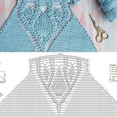 Diy Crafts - crochet-Knitting Crochet Comment Ideas For 2019 knitting crochet Crochet Halter Tops, Motif Bikini Crochet, Crochet Bra, Crochet Motifs, Crochet Crop Top, Crochet Diagram, Crochet Clothes, Crochet Stitches, Crochet Patterns