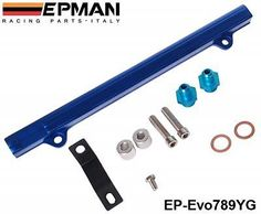 EPMAN High Flow Fuel Rail For Mitsubishi Evo 7, 8, 9, + fuel pressure regulator