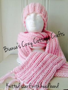 A personal favorite from my Etsy shop https://www.etsy.com/listing/223916178/knitwear-scarf-headband-set-knitted