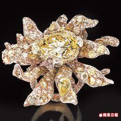 CINDY CHAO大師系列向日葵戒指,鮮活色彩如梵谷畫作,已被收藏。