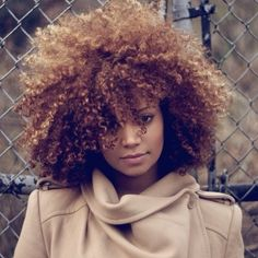 Love this hair color! #naturalhair #naturalstyle #fro #curly