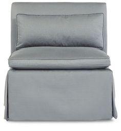 grey satin chair