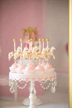 Cake Pops from a Pink Carousel Birthday Party via Kara's Party Ideas! KarasPartyIdeas.com (42)