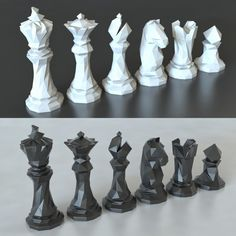 3d Printer Designs, 3d Printer Projects, Impression 3d, Chess For Children, Low Poly, Chess Tattoo, 3d Printing Business, Chess Pieces, 3d Prints