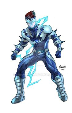 Another character soon to be one of the contestants in the second SPEED FRONT round of ARENA competitions, SPEEDBOLT here was created by my youngest son. Speedbolt by Gammaknight Make A Character, Fantasy Character Design, Comic Character, Character Concept, Character Inspiration, Concept Art, M&m Characters, Superhero Characters, Fantasy Characters