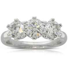 Platinum 2.10ct diamond trilogy ring