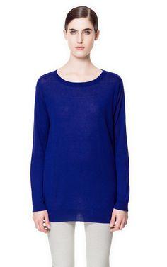 SILK AND COTTON SWEATER - Sweaters - Knitwear - Woman   ZARA United Kingdom