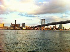 New York City - Williamsburg Bridge from East River Park, Manhattan to Brooklyn #SasaYork #NewYork #Manhattan #Brooklyn #Williamsburg #bridge